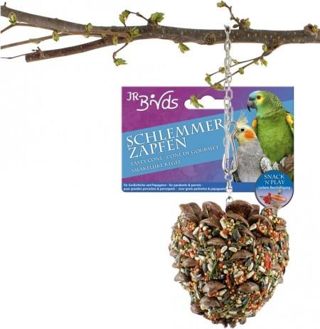 JR Farm Birds Schlemmerzapfen Großsittich und Papagei 4 x 195 g