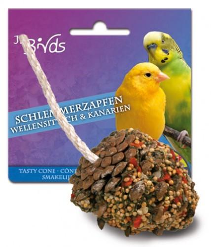 JR Farm Birds Schlemmerzapfen Wellensittich und Kanarien 6 x 120 g