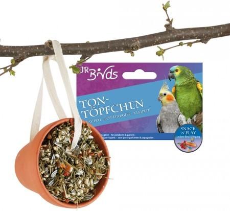 JR Farm Birds Tontöpfchen Großsittich und Papagei 4 x 260 g