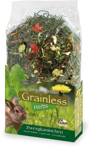 JR Farm Grainless Herbs Zwergkaninchen 6 x 400 g oder 5 kg