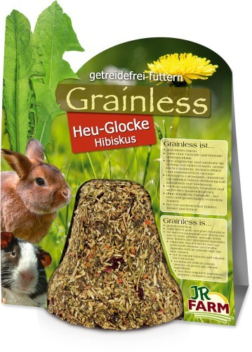 JR Farm Grainless Heu Glocke Hibiskus 5 x 125 g