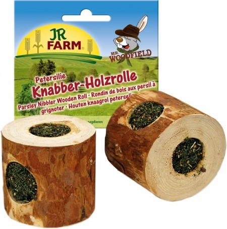 JR Farm Mr. Woodfield Knabber Holzrolle mit Petersilie 5 x 100 g