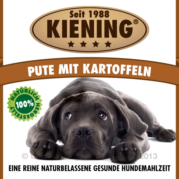 Kiening Dog Pute mit Kartoffeln 410 g oder 820 g