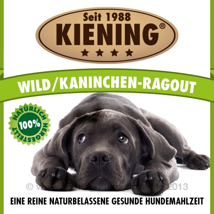 Kiening Dog Wild Kaninchen Ragout 12 x 410 g