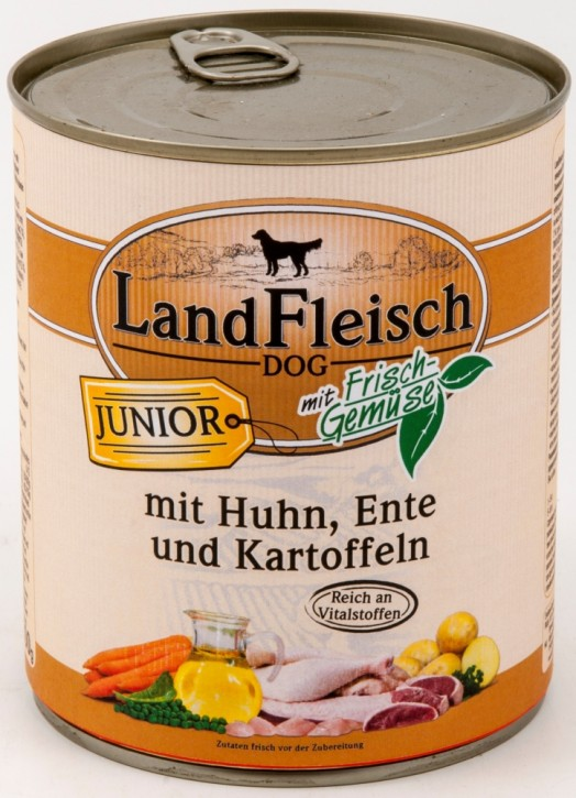 LandFleisch Junior mit Huhn, Ente und Kartoffeln 800 g