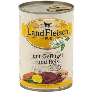 LandFleisch Pur mit Geflügel und Reis 400 g