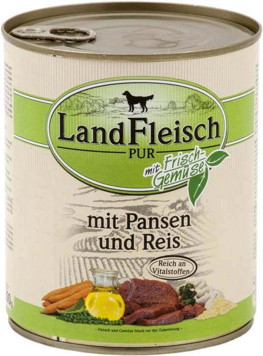LandFleisch Pur mit Pansen und Reis 800 g