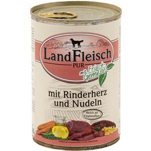 LandFleisch Pur mit Rinderherz und Nudeln 400 g