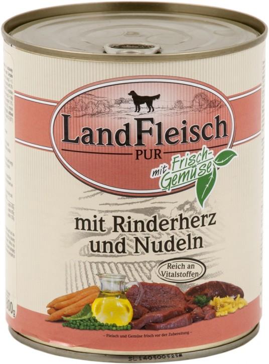 LandFleisch Pur mit Rinderherz und Nudeln 800 g