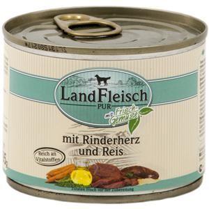 LandFleisch Pur mit Rinderherz und Reis 195 g