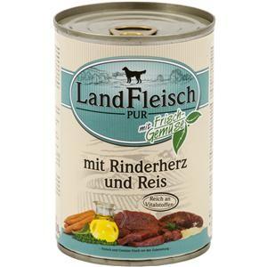 LandFleisch Pur mit Rinderherz und Reis 400 g