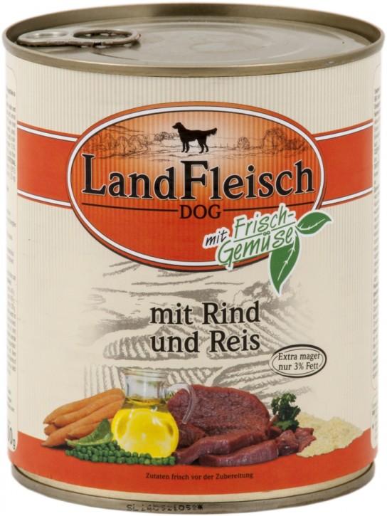 LandFleisch Pur mit Rind und Reis 800 g