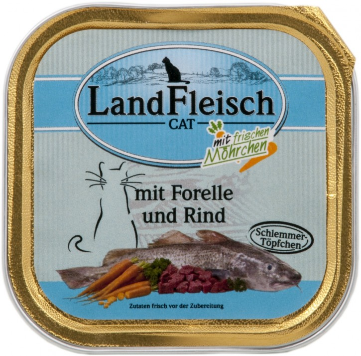 LandFleisch Schlemmertopf mit Forelle und Rind 30 x 100 g