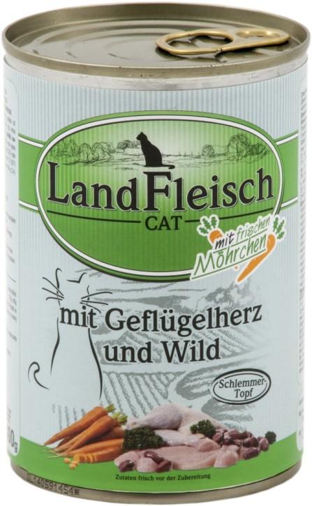 LandFleisch Schlemmertopf mit Geflügelherz und Wild 400 g