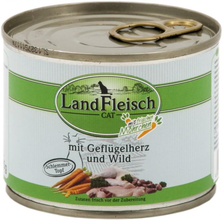 LandFleisch Schlemmertopf mit Geflügelherz und Wild 195 g