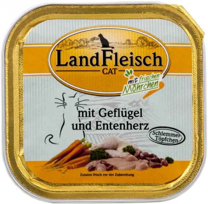 LandFleisch Schlemmertopf mit Geflügel und Entenherz 30 x 100 g