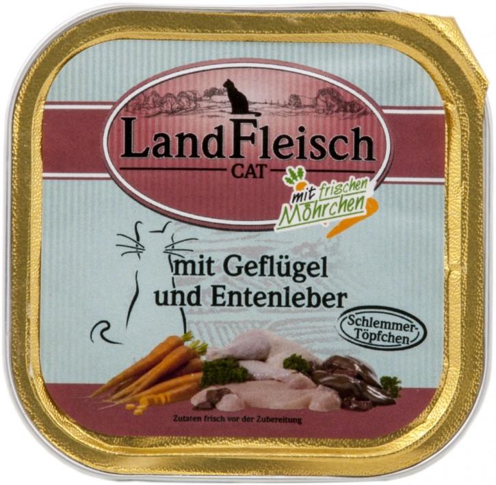 LandFleisch Schlemmertopf mit Geflügel und Entenleber 30 x 100 g