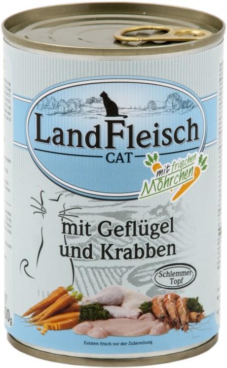 LandFleisch Schlemmertopf mit Geflügel und Krabben 400 g