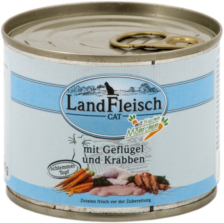 LandFleisch Schlemmertopf mit Geflügel und Krabben 195 g