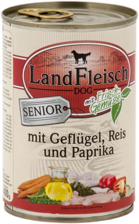 LandFleisch Senior mit Geflügel, Reis und Paprika 400 g