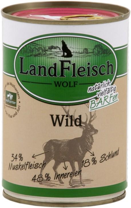 LandFleisch Wolf Sensibel mit Wild 400 g