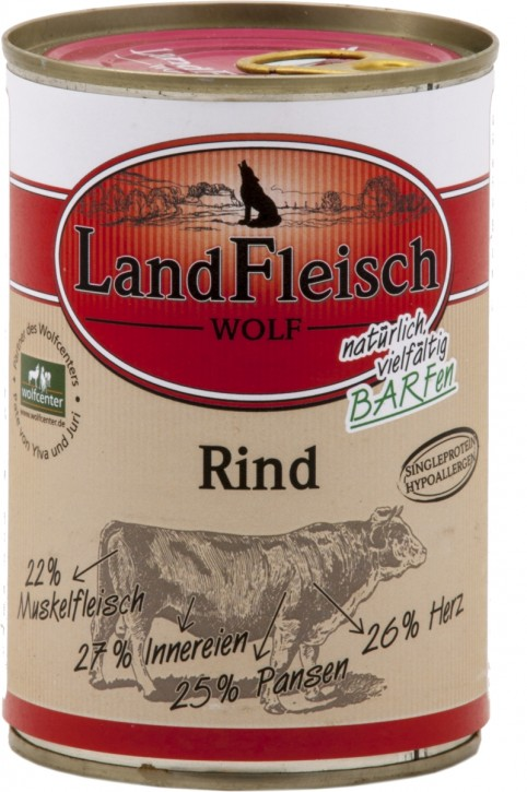 LandFleisch Wolf mit Rind 400 g