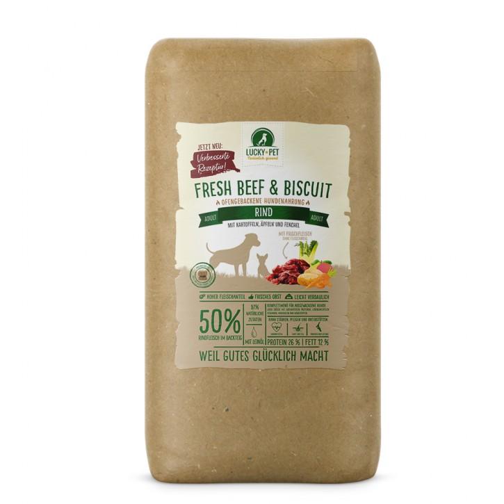 Lucky Pet Fresh Beef & Biscuit Adult Rind 12 kg (SPARTIPP: unsere Staffelpreise)