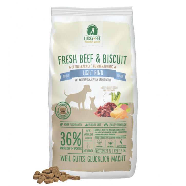 Lucky Pet Fresh Beef & Biscuit Grainfree Adult Light 12 kg (SPARTIPP: unsere Staffelpreise)