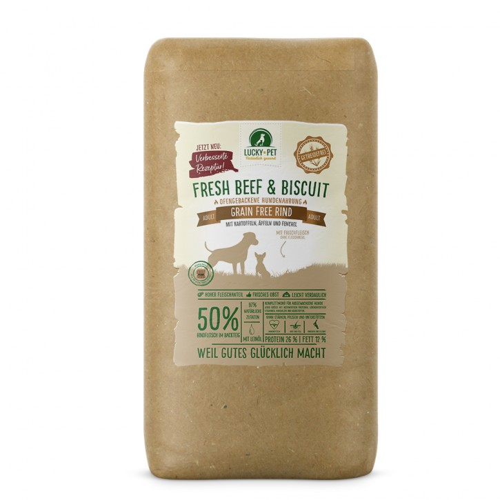 Lucky Pet Fresh Beef & Biscuit Grainfree Adult Rind 12 kg (SPARTIPP: unsere Staffelpreise)