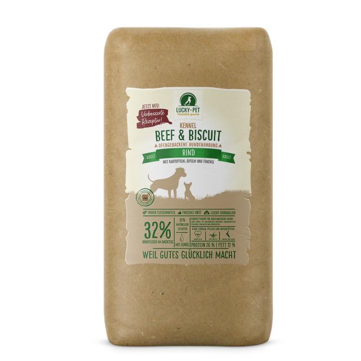 Lucky Pet Original Beef & Biscuit Adult Rind Kennel 12 kg (SPARTIPP: unsere Staffelpreise)