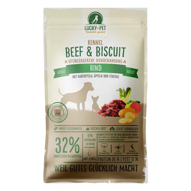 Lucky Pet Original Beef & Biscuit Grainfree Adult Kennel 12 kg (SPARTIPP: unsere Staffelpreise)