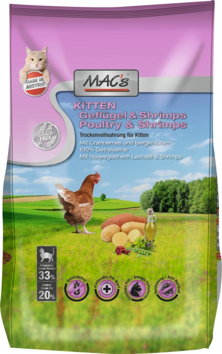 MACs Cat Kitten Geflügel & Shrimps 7 kg