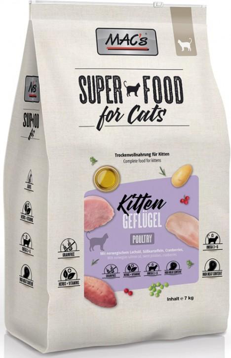 MACs Cat Kitten Geflügel & Shrimps 1,5 kg oder 7 kg (SPARTIPP: unsere Staffelpreise)