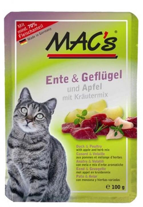 Macs Cat Ente & Geflügel und Apfel 12 x 100 g