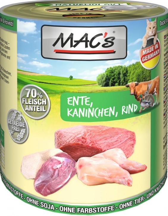 Macs Cat Ente & Kaninchen und Rind 800 g