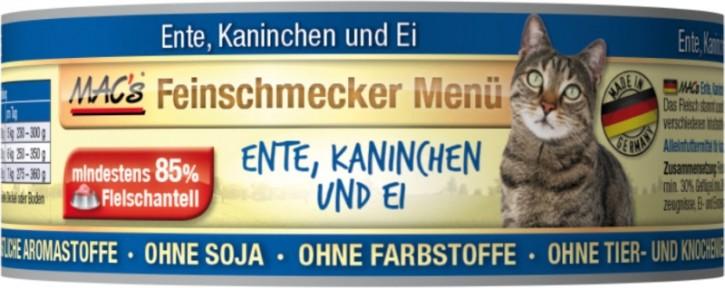 Macs Cat Feinschmecker Menü Ente & Kaninchen 100 g