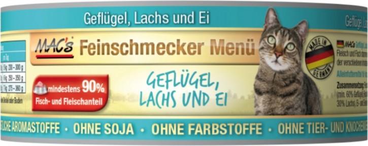 Macs Cat Feinschmecker Menü Geflügel & Lachs 100 g