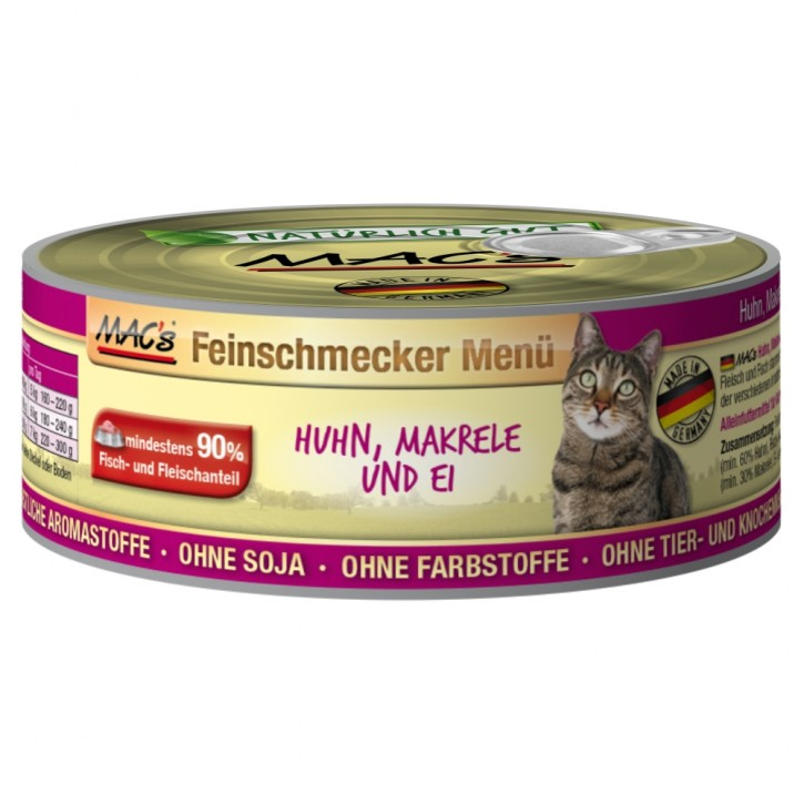 Macs Cat Feinschmecker Menü Huhn & Makrele 12 x 100 g