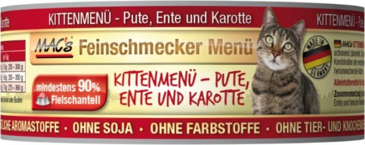 Macs Cat Feinschmecker Menü Kitten Ente & Pute 100 g