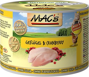 Macs Cat Geflügel & Cranberry 200 g