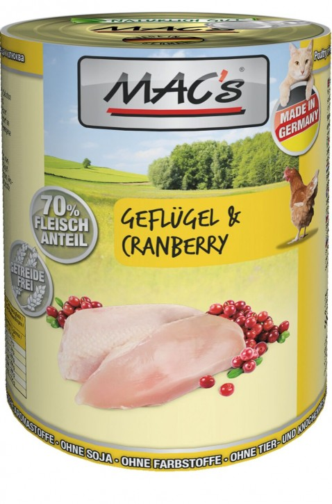 Macs Cat Geflügel & Cranberry 400 g