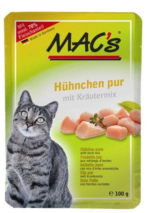 Macs Cat Hähnchen pur 12 x 100 g