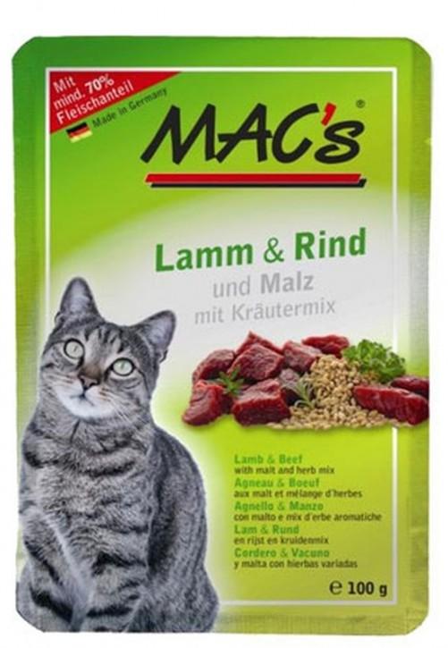 Macs Cat Lamm & Rind und Malz 12 x 100 g
