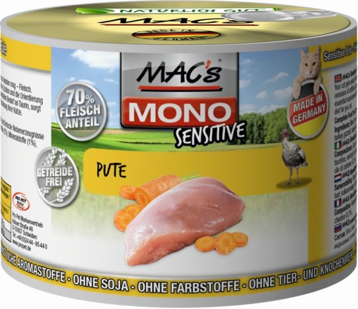 Macs Cat Mono Sensitive Pute 12 x 200 g