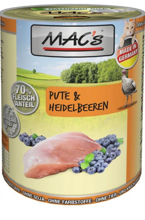 Macs Cat Pute & Heidelbeeren 400 g