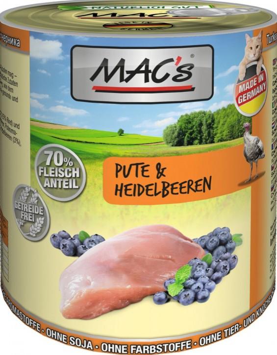 Macs Cat Pute & Heidelbeeren 800 g