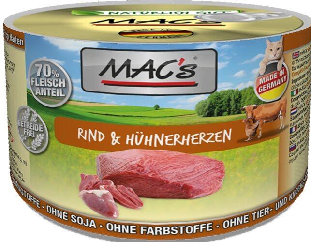 Macs Cat Rind & Hühnerherzen 200 g