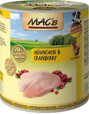Macs Dog Hühnchen & Cranberry 400 g