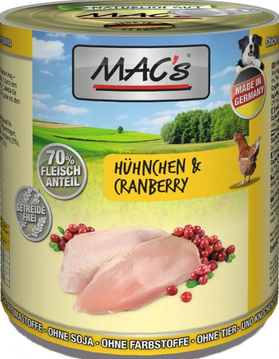Macs Dog Hühnchen & Cranberry 800 g