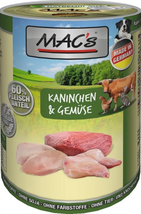 Macs Dog Kaninchen & Gemüse 12 x 400 g